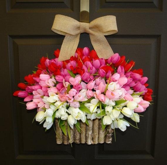 wreath, sarah in style, DIY, front door