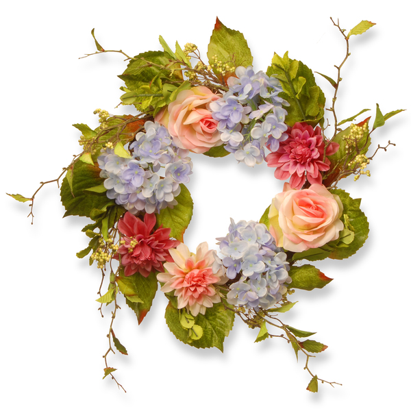 floral wreath, wreath, sarah in style, spring wreath