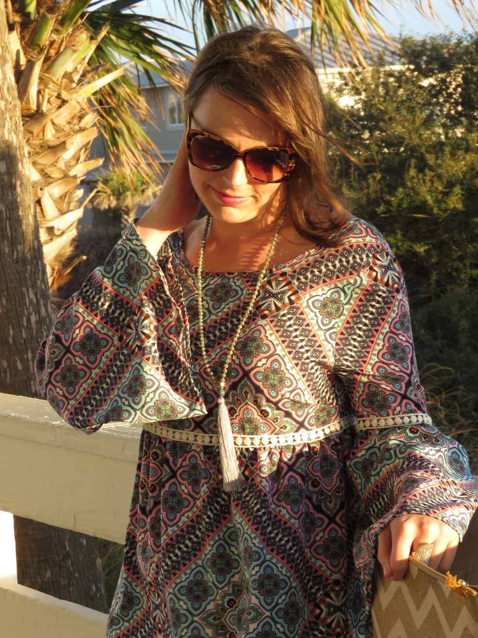 boho babe, sarah in style, 1970's, hippie chic, floral onesie, fashion blogger