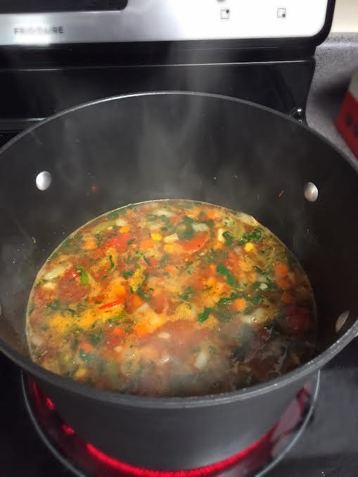 sarah in style, food blogger, minestrone, rachel's recipe