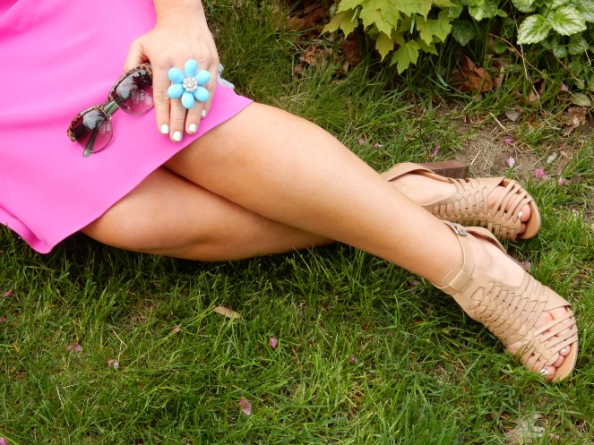 Pretty in Pink, Sarah In Style, Windy City Blogger, WCBC, Fashion Blogger, Spray Tan, Chicago Blogger, sarahinstyle.com, ralph lauren, steve madden
