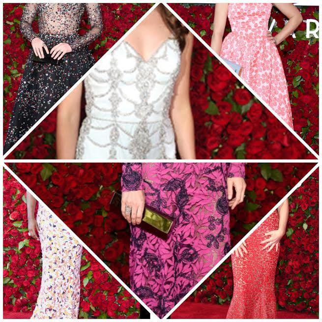 tony awards, busy phillips, red carpet, sarah in style, fashion blogger, allison williams, lupita nyongo, jane krakowski, laura benanti
