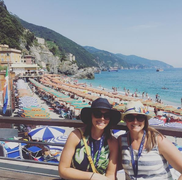 My friend Emily and I in Monterosso.