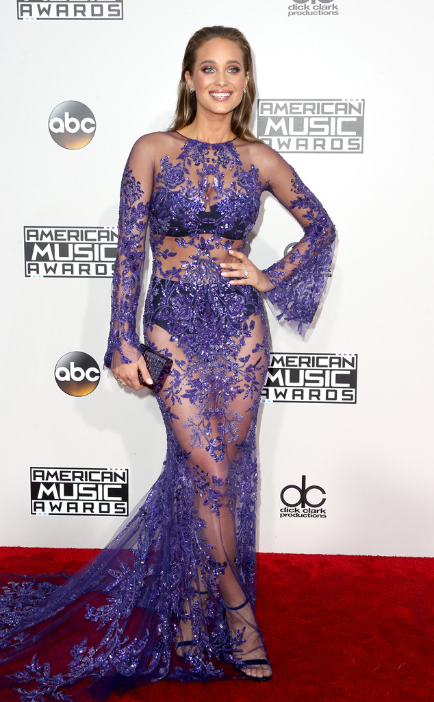 American Music Awards, AMA's, rec carpet fashion, Zuhair Murad, sparkley dresses, celebrity fashion, sarah in style, sarahinstyle.com, wcbcstyle, fashion blogger, hailee steinfel, elie saab, hannah davis, zuhair murad