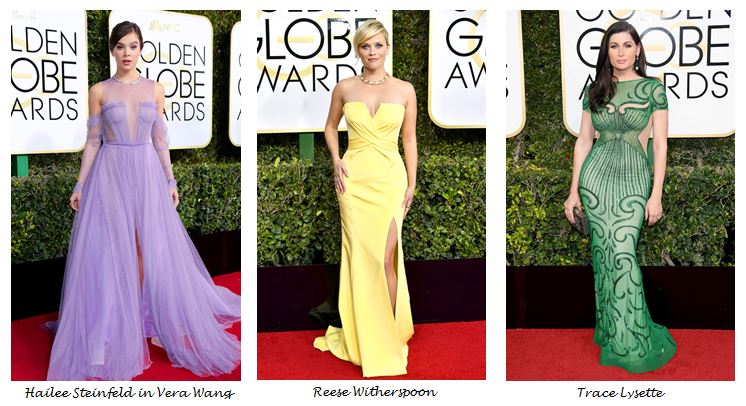 Golden Globes 2017, Red Carpet, Red Carpet Fashion, Golden Globes, Best Dressed, Celebrity Style, Sarah In Style, sarahinstyle.com, fashion blogger, hollywood red carpet, celeb styling, Reese Witherspoon, Trace Lysette, Hailee Steinfeld, Vera Wang