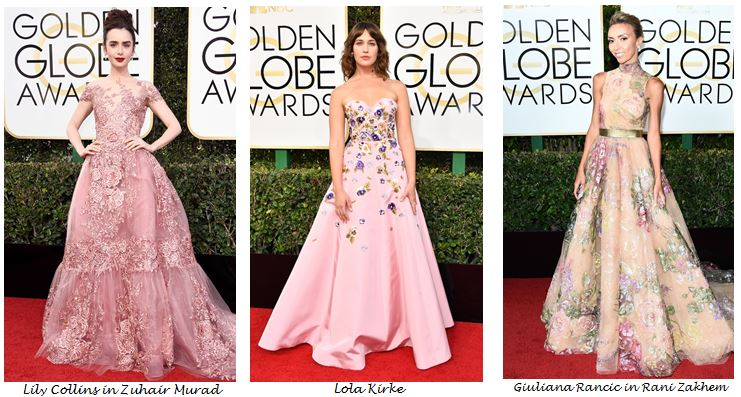 Golden Globes 2017, Red Carpet, Red Carpet Fashion, Golden Globes, Best Dressed, Celebrity Style, Sarah In Style, sarahinstyle.com, fashion blogger, hollywood red carpet, celeb styling, Jesscia Biel, Elie Saab, Olivia Culpo. Janelle Monet, Armani, Zuhair Murad, Lola Kirke, Lily Collins, Giuliana Rancic, Rani Zakhem