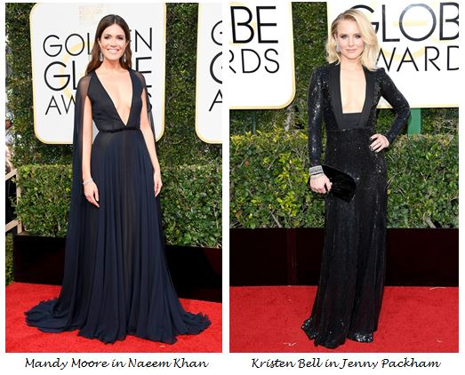 Golden Globes 2017, Red Carpet, Red Carpet Fashion, Golden Globes, Best Dressed, Celebrity Style, Sarah In Style, sarahinstyle.com, fashion blogger, hollywood red carpet, celeb styling, Chrissy Tiegen, Drew Barrymore, Annette Benning, Emma Stone, La La Land, Valentino, Monique Lhullier, Marchesa, Pamela Roland, Mandy Moore, Kristen Bell, Jenny Packham, Naeem Khan