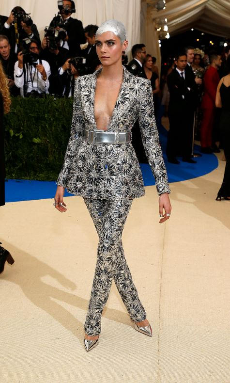Cara Delevigne, Met Gala, Rei Kawakubo, Commes des Garcons, The Met, red carpet fashion, celebrity fashion, Met Gala, fashion's biggest night,, Chanel