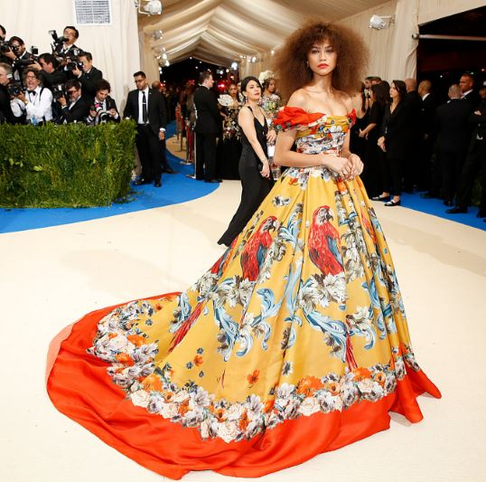 Zendaya, Rhianna, Gigi Hadid, Cara Delevigne, Met Gala, Rei Kawakubo, Commes des Garcons, The Met, red carpet fashion, celebrity fashion, Met Gala, fashion's biggest night, Chanel