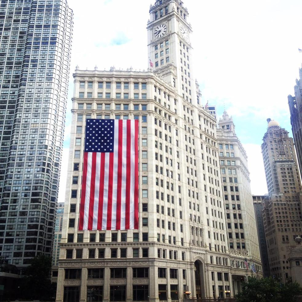 Chicago 4th of July, Chicago, Wrigley Building, Tribune Building, Chicago River, Happy 4th, God Bless the USA