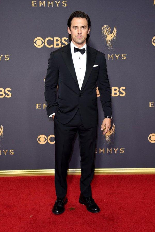 Milo Ventimiglio, Emmy Awards, Emmys, Emmys Red Carpet, Emmys 2017, Celebrity Style, Celeb Best Dressed, Emmys Red Crapet 2017, Sarah In Style, Awards Season, Celeb Fashion, Sarah Meyer
