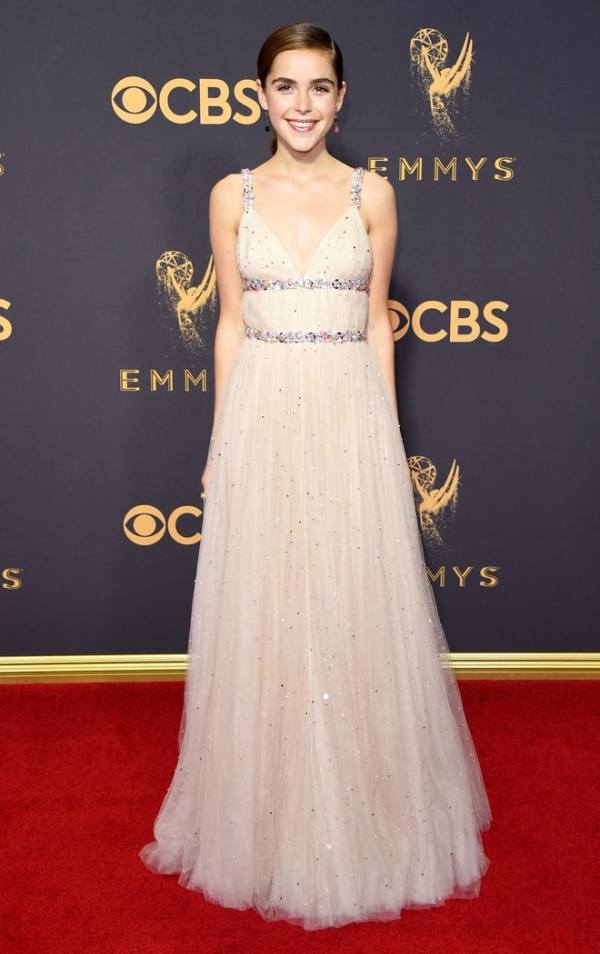 Emmy Awards, Emmys, Emmys Red Carpet, Emmys 2017, Celebrity Style, Celeb Best Dressed, Emmys Red Crapet 2017, Sarah In Style, Awards Season, Celeb Fashion, Sarah Meyer, Miu Miu, Kiernan Shipka