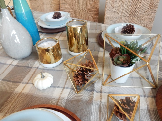Dining Decor, Tablescape, Fall Table Decor, Fall Table, Fall Decorations, Fall Entertaining, Table Setting, West Elm, Pottery Barn, Cool Hued Fall Blues, Sarah In Style, Design blogs, design blogger, interior decorating, Sarah Meyer, cindi sodolski, warm table decor