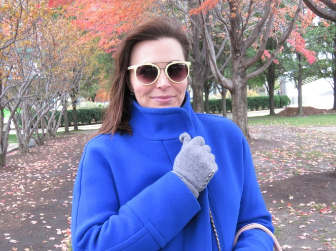 fall style, Blue coat, winter coat, colorful coat, J Crew, Winter fashion, what coat to buy, chicago skyline, chicago, millenium park, the bean, cloud gate, pritzker pavilion, maggie daley park, nectar sunglasses, nectar, sarah in style, sarah meyer, fashion blog, fashion blogger, winter style