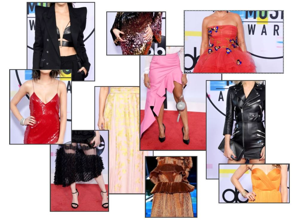 Madelaine Petsch, American Music Awards, AMas, Music Awards, Red Carpet, Celebrity fashion, best dressed, pink, tracee ellis ross, kathryn hahn, ashlee simpson ross, hailee steinfeld, selena gomez, mugler, Monique Lhullier, Christian Siriano