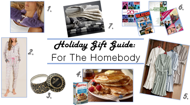 Holiday Gift Guide, Gift Guide, Gift Guides, Gifts for the homebody, Gifts for Relaxation, sarah in style, christmas gift ideas, soft surroundings, krusteaz, voluspa, movie gifts, francescas,