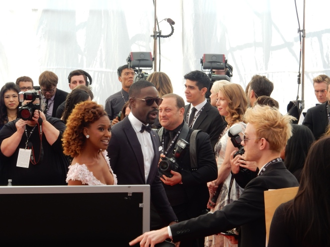 Sterling K. Brown, Reese Witherspoon, fashion blogger, style blogger, sarah in style, Sarah Meyer, SAG Awards, Screen Actors Guild, SAG Red Carpet, SAG Afterparty, SAG red carpet experience, SAG bleachers, Awards season, celebrity fashion, best dressed, E red carpet, People style, best of the SAG Awards