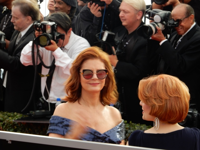 Susan Sarandon, fashion blogger, style blogger, sarah in style, Sarah Meyer, SAG Awards, Screen Actors Guild, SAG Red Carpet, SAG Afterparty, SAG red carpet experience, SAG bleachers, Awards season, celebrity fashion, best dressed, E red carpet, People style, best of the SAG Awards