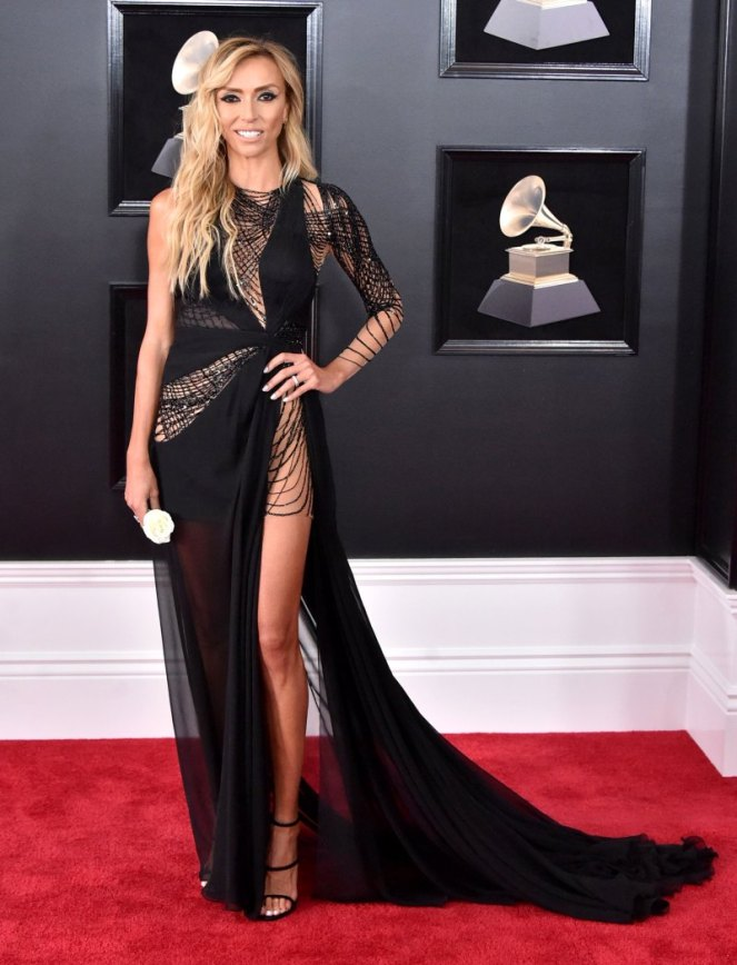 Giulian Rancic, Grammy Awards, Grammys. 2018 Grammys, The Grammy's, red carpet, best dressed, celebrity style, musics biggest night, metallics, sparkle, jewel tones, Sarah Meyer, sarah in style, sarahinstyle.com