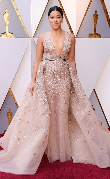 Academy Awards, Oscars, Oscars Best Dressed, Best Dressed, 2018 Red Carpet, Red Carpet Fashion, Celebrity Style, Celebrity Fashion. Zuhair Murad, Gina Rodriguez, Top Looks of the night