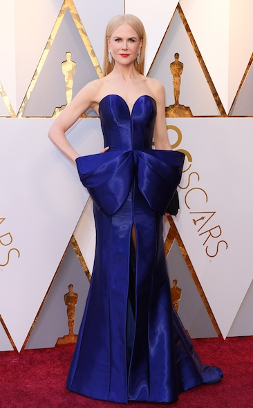 Nicole Kidman, Armani Prive, Academy Awards, Oscars, Oscars Best Dressed, Best Dressed, 2018 Red Carpet, Red Carpet Fashion, Celebrity Style, Celebrity Fashion. Top Looks of the night