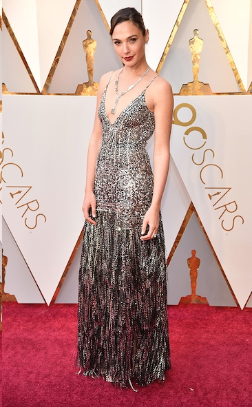 Gal Gadot, Academy Awards, Oscars, Oscars Best Dressed, Best Dressed, 2018 Red Carpet, Red Carpet Fashion, Celebrity Style, Celebrity Fashion. Top Looks of the night
