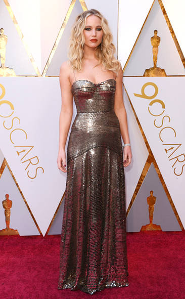 Jennifer Lawrence, Dior, Academy Awards, Oscars, Oscars Best Dressed, Best Dressed, 2018 Red Carpet, Red Carpet Fashion, Celebrity Style, Celebrity Fashion. Top Looks of the night