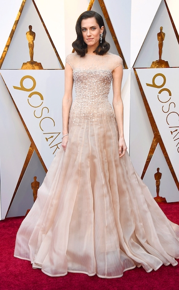 Allison Williams, Armani Prive, Academy Awards, Oscars, Oscars Best Dressed, Best Dressed, 2018 Red Carpet, Red Carpet Fashion, Celebrity Style, Celebrity Fashion. Zuhair Murad, Gina Rodriguez, Top Looks of the night