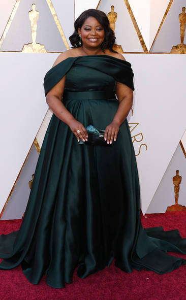 Octavia Spencer, Academy Awards, Oscars, Oscars Best Dressed, Best Dressed, 2018 Red Carpet, Red Carpet Fashion, Celebrity Style, Celebrity Fashion. Top Looks of the night