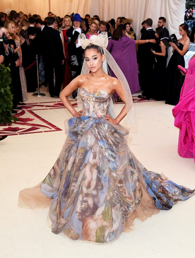 Met Gala, Heavenly Bodies, Fashion and the Catholic Imagination, The Met, red carpet fashion, celebrity fashion,  fashion's biggest night, Versace, Met Gala 2018, oscars of fashion, ariana grande, zendaya, sarah jessica parkers, best head pieces, halos, Amber heard, headdresses, Blake Lively, Gigi Hadid, Mindy Kaling, Madonna, rihanna, catholic fashion, lily collins, costume institute