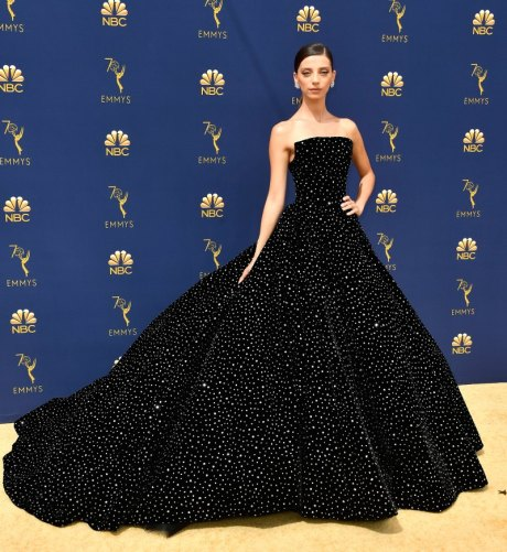 Angela Sarafyan, Christian Siriano, Emmy Awards, Emmy Awards 2018, Celeb Style, Celebrity Style, Celebrity Fashion, Red Carpet Fashion, Red Carpet, #redcarpet, best dressed, best dressed celebs. fashion awards, Sarah In Style, Sarah Meyer