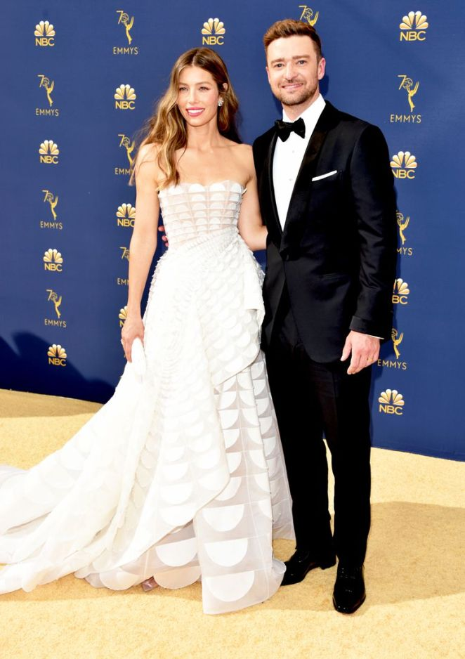 Justin and Jessica, Emmy Awards, Emmy Awards 2018, Celeb Style, Celebrity Style, Celebrity Fashion, Red Carpet Fashion, Red Carpet, #redcarpet, best dressed, best dressed celebs. fashion awards, Sarah In Style, Sarah Meyer