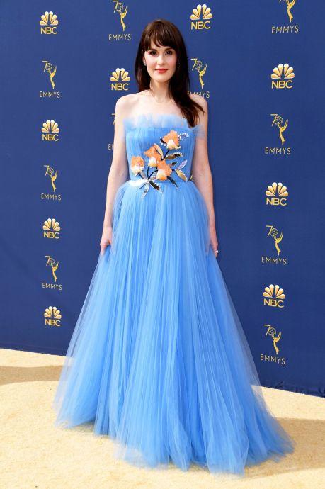Michelle DOckery, Emmy Awards, Emmy Awards 2018, Celeb Style, Celebrity Style, Celebrity Fashion, Red Carpet Fashion, Red Carpet, #redcarpet, best dressed, best dressed celebs. fashion awards, Sarah In Style, Sarah Meyer