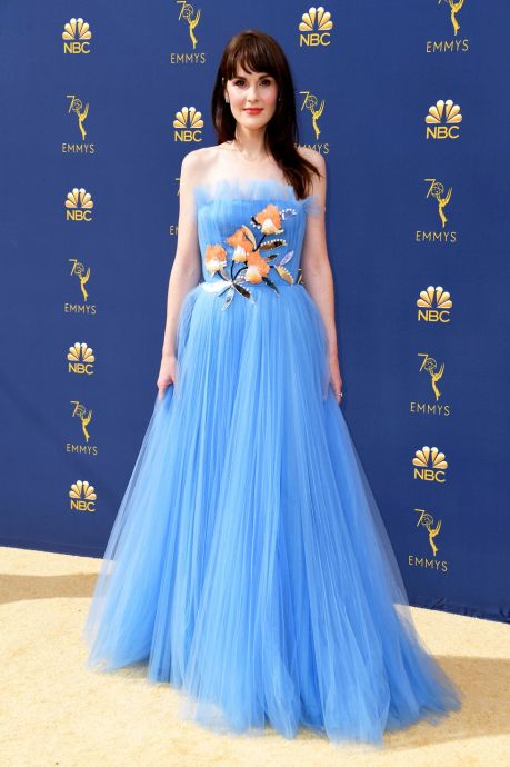Michelle DOckery, Emmy Awards, Emmy Awards 2018, Celeb Style, Celebrity Style, Celebrity Fashion, Red Carpet Fashion, Red Carpet, #redcarpet, best dressed, best dressed celebs. fashion awards, Sarah In Style, Sarah Meyer