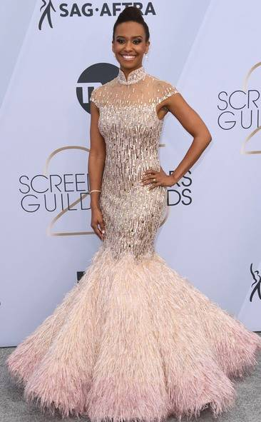 Ryan Michelle Bathe, SAG AWARDS, SAG Awards Best Dressed, Screen Actors Guild, Screen Actors Guild Awards, Best Dressed 2019, Red Carpet, Red Carpet Fashion, Celebrity Best Dressed, Celebrity Fashion, Awards Season, What they Wore, On the red carpet, Celebrity style, Sarah In Style, Sarah Meyer, Celebrity looks, awards show fashion