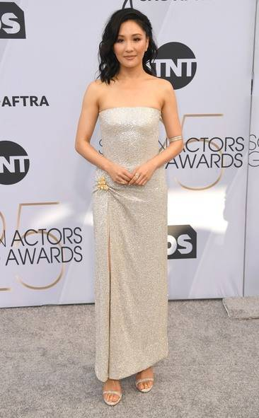 Constance Wu, SAG AWARDS, SAG Awards Best Dressed, Screen Actors Guild, Screen Actors Guild Awards, Best Dressed 2019, Red Carpet, Red Carpet Fashion, Celebrity Best Dressed, Celebrity Fashion, Awards Season, What they Wore, On the red carpet, Celebrity style, Sarah In Style, Sarah Meyer, Celebrity looks, awards show fashion