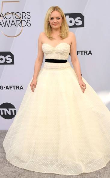 Elisabeth Moss, SAG AWARDS, SAG Awards Best Dressed, Screen Actors Guild, Screen Actors Guild Awards, Best Dressed 2019, Red Carpet, Red Carpet Fashion, Celebrity Best Dressed, Celebrity Fashion, Awards Season, What they Wore, On the red carpet, Celebrity style, Sarah In Style, Sarah Meyer, Celebrity looks, awards show fashion