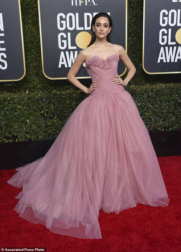 Emmy Rossum, Golden Globes, Globes 2019, Golden Globes Best Dressed, Best Dressed 2019, Red Carpet, Red Carpet Fashion, Celebrity Best Dressed, Celebrity Fashion, Awards Season, What they Wore, On the red carpet, Celebrity style, Sarah In Style, Sarah Meyer, Celebrity looks, Beverly Hilton, awards show fashion