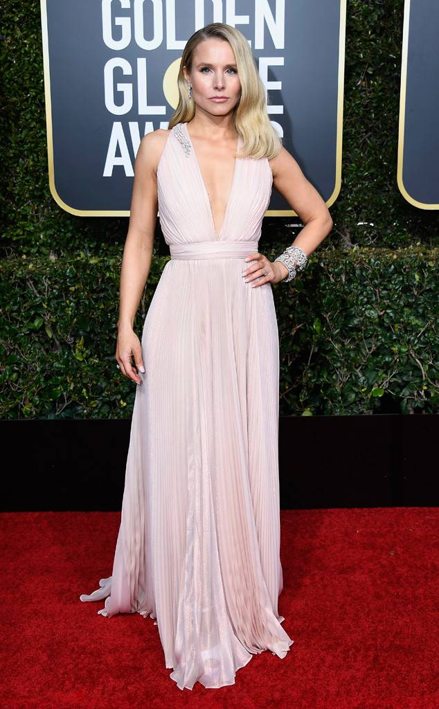 Kristen Bell, Golden Globes, Globes 2019, Golden Globes Best Dressed, Best Dressed 2019, Red Carpet, Red Carpet Fashion, Celebrity Best Dressed, Celebrity Fashion, Awards Season, What they Wore, On the red carpet, Celebrity style, Sarah In Style, Sarah Meyer, Celebrity looks, Beverly Hilton, awards show fashion