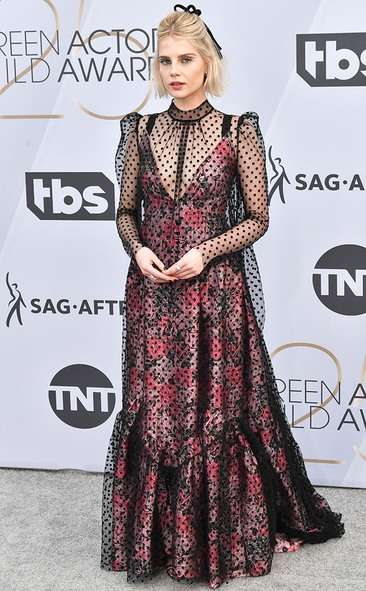 Lucy Boynton, SAG AWARDS, SAG Awards Best Dressed, Screen Actors Guild, Screen Actors Guild Awards, Best Dressed 2019, Red Carpet, Red Carpet Fashion, Celebrity Best Dressed, Celebrity Fashion, Awards Season, What they Wore, On the red carpet, Celebrity style, Sarah In Style, Sarah Meyer, Celebrity looks, awards show fashion