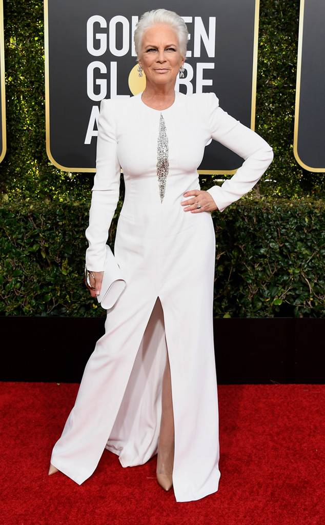 Jamie Lee Curtis, Golden Globes, Globes 2019, Golden Globes Best Dressed, Best Dressed 2019, Red Carpet, Red Carpet Fashion, Celebrity Best Dressed, Celebrity Fashion, Awards Season, What they Wore, On the red carpet, Celebrity style, Sarah In Style, Sarah Meyer, Celebrity looks, Beverly Hilton, awards show fashion