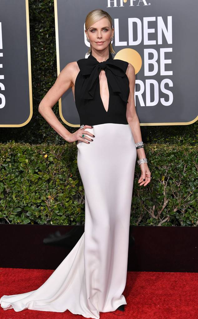 Charlize Theron, Golden Globes, Globes 2019, Golden Globes Best Dressed, Best Dressed 2019, Red Carpet, Red Carpet Fashion, Celebrity Best Dressed, Celebrity Fashion, Awards Season, What they Wore, On the red carpet, Celebrity style, Sarah In Style, Sarah Meyer, Celebrity looks, Beverly Hilton, awards show fashion