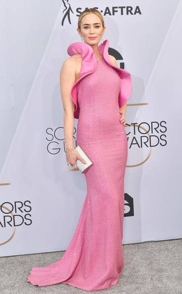 Emily Blunt, SAG AWARDS, SAG Awards Best Dressed, Screen Actors Guild, Screen Actors Guild Awards, Best Dressed 2019, Red Carpet, Red Carpet Fashion, Celebrity Best Dressed, Celebrity Fashion, Awards Season, What they Wore, On the red carpet, Celebrity style, Sarah In Style, Sarah Meyer, Celebrity looks, awards show fashion