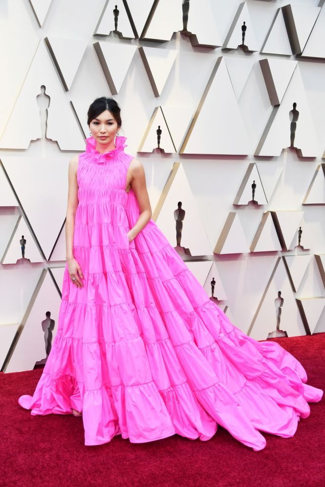 Gemma Chan, Valentino, 91st Academy Awards, Dolby Theater Hollywood, Oscars 2019, Academy Awards, Red Carpet, Oscars Red Carpet 2019, Best Dressed, Celebrity Fashion, On the red carpet, celebrity style, red carpet jewelry, most expensive jewelry at the oscars, most expensive jewelry at the academy awards, awards season best looks, Sarah In Style, Sarah Meyer, Kodak Theater, Roosevelt Hotel Los Angeles
