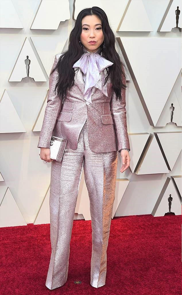 Awkwafina, Dsquared2, 91st Academy Awards, Dolby Theater Hollywood, Oscars 2019, Academy Awards, Red Carpet, Oscars Red Carpet 2019, Best Dressed, Celebrity Fashion, On the red carpet, celebrity style, red carpet jewelry, most expensive jewelry at the oscars, most expensive jewelry at the academy awards, awards season best looks, Sarah In Style, Sarah Meyer, Kodak Theater, Roosevelt Hotel Los Angeles