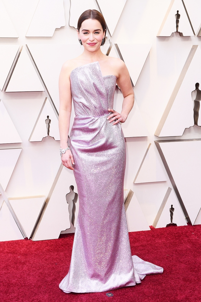 Emilia Clark, Balmain, 91st Academy Awards, Dolby Theater Hollywood, Oscars 2019, Academy Awards, Red Carpet, Oscars Red Carpet 2019, Best Dressed, Celebrity Fashion, On the red carpet, celebrity style, red carpet jewelry, most expensive jewelry at the oscars, most expensive jewelry at the academy awards, awards season best looks, Sarah In Style, Sarah Meyer, Kodak Theater, Roosevelt Hotel Los Angeles
