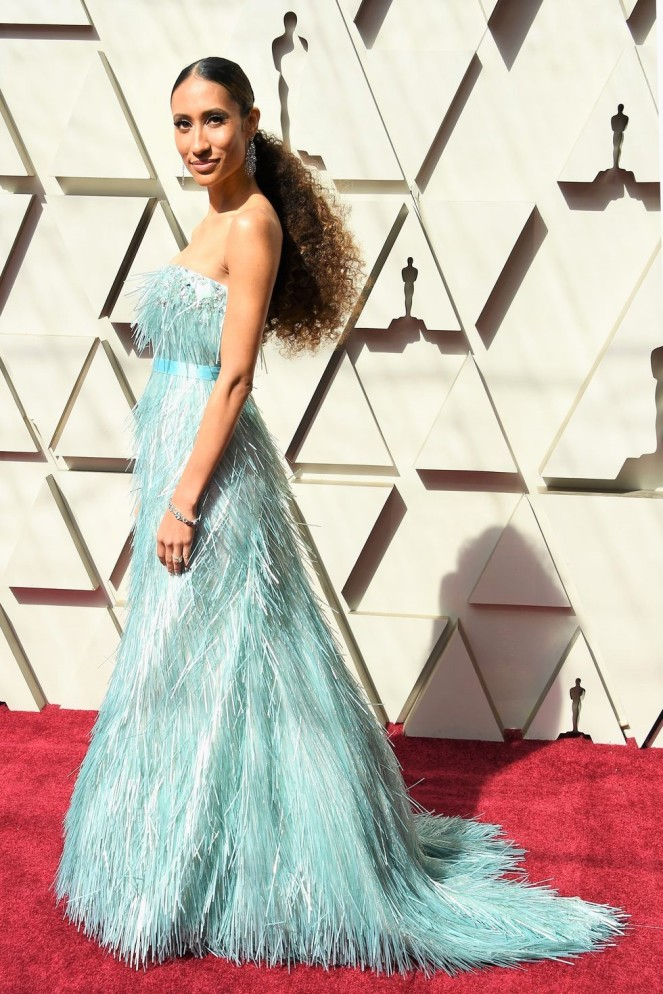 Elaine Welteroth, 91st Academy Awards, Dolby Theater Hollywood, Oscars 2019, Academy Awards, Red Carpet, Oscars Red Carpet 2019, Best Dressed, Celebrity Fashion, On the red carpet, celebrity style, red carpet jewelry, most expensive jewelry at the oscars, most expensive jewelry at the academy awards, awards season best looks, Sarah In Style, Sarah Meyer, Kodak Theater, Roosevelt Hotel Los Angeles
