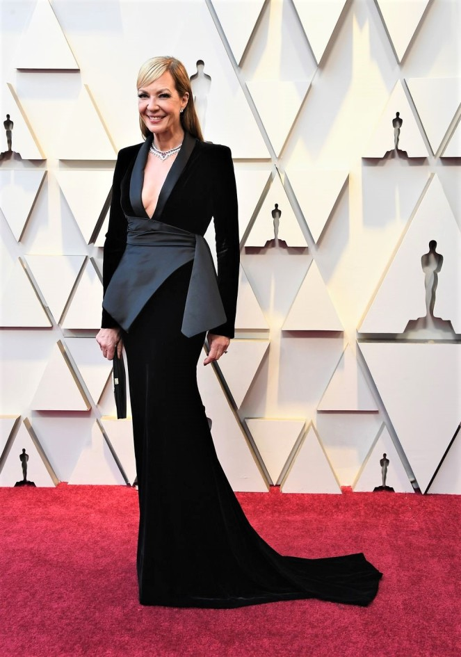 Allison Janey, Chopard, 91st Academy Awards, Dolby Theater Hollywood, Oscars 2019, Academy Awards, Red Carpet, Oscars Red Carpet 2019, Best Dressed, Celebrity Fashion, On the red carpet, celebrity style, red carpet jewelry, most expensive jewelry at the oscars, most expensive jewelry at the academy awards, awards season best looks, Sarah In Style, Sarah Meyer, Kodak Theater, Roosevelt Hotel Los Angeles