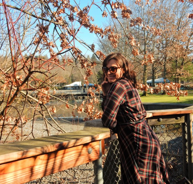 H&M Plaid Shirtdress, plaid dress, h&m plaid dress, plaid is rad, pretty in plaid, winter plaid, how to wear plaid, cool plaid pieces, plaid fashion, Renton WA, Renton Washington, Vince Camuto, Vince Camuto Brown Boots, Soft Surroundings, Sarah In Style, Sarah Meyer, Winter fashion advice, what to wear this winter