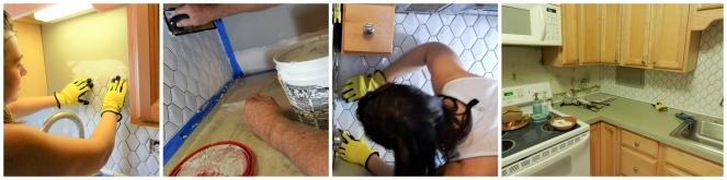 Sarah In Style, Sarah Meyer, Kitchen Makeover, Kitchen Remodel, Kitchen Tiling, How to Tile, DIY Tiling, DIY Backsplash, DIY Kitchen Tiling, Tiling Tools, TIling Steps, White Kitchen Tile, Mid Century Modern Kitchen, Apartment Kitchen Makeovers, Easy Kitchen Makeovers, Blogger Design Tips, Blogger DIY tips, kitchen design trends, Home Depot tile, Home Depot tiling